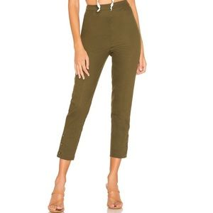NWT L'Academie Alloy Skinny Pant in Olive Green